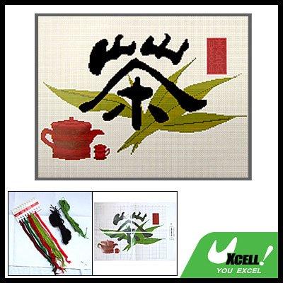 Tea Counted Cross Stitch Cross-Stitch Embroidery Kit