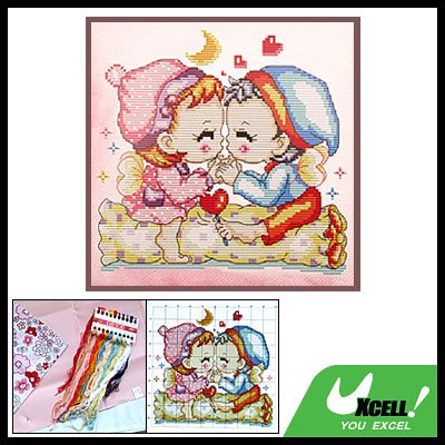 Pink Pillow Cover Lover Counted Cross Stitch Cushion Case Kit