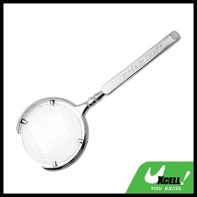 3X Metal Magnifying Glass Magnifier for Reading Map Silver