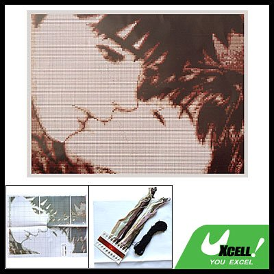 Kissing Lover Counted Cross Stitch Cross-Stitch Kit