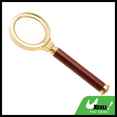 3X Magnifying Glass Metal Magnifier for Reading Golden