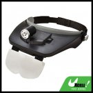 3 LED Head Light Illuminated Magnifier Magnifying Glass