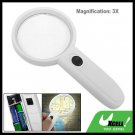 3X Lighted Reading Map Magnifier Hand Held Magnifying Glass with LED