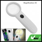 5X Lighted Reading Map Magnifier Hand Held Magnifying Glass