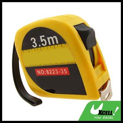 3.5M Retractable Pocket Tape Measure Rule Yellow