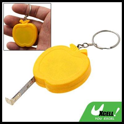 Pocket Apple Retractable Tape Measure Ruler Keychain