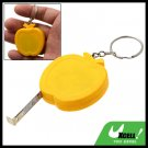 Pocket Apple Retractable Tape Measure Ruler Keychain