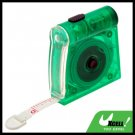 Green 1M Mini Pocket Tape Measure Ruler with LED Light