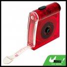 1M Red Mini Pocket Tape Measure Ruler with LED Light