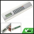 Silvery 8 Digit Electronic Ruler Calculator Measuring 8 Inches