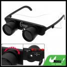 Black 3X Adjustable Focus Binoculars Eyeglass Magnifier