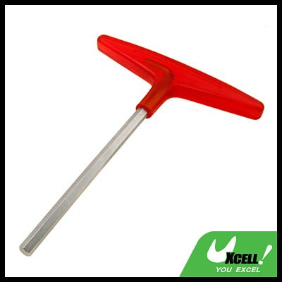 Metric Red T-Handle Hex Wrench Tool (Size 10mm)