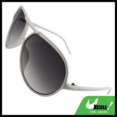 Classic Aviator White Fashion Eyewear Sunglasses