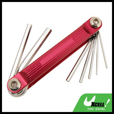 Metric 7 in 1 Folding Hex Wrench Hand Tools Rosered