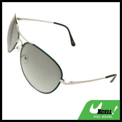 Aviator Style Women  Man Unisex Metal Frame Green Sunglasses