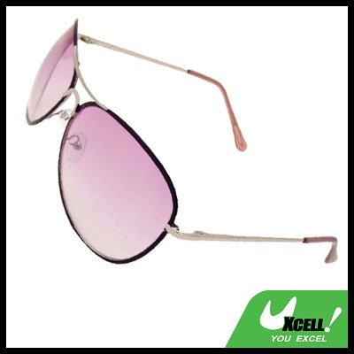 Purple Aviator Unisex Women's Metal Frame Sunglasses