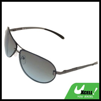 Green Lens Metal Frame Men Eyeglasses Aviator Sunglasses