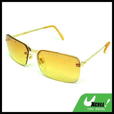 De Luxe Aviator Yellow Fashion Eyewear Night Vision Sunglasses