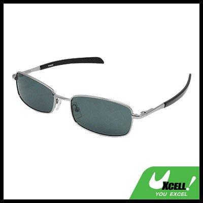 Aviator Style Polarized Sports Sunglasses Silvery Metal Frame