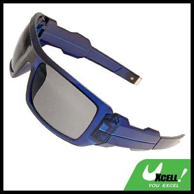 Blue Large Lens Eye Wear Sport Men's Motorcycle Sunglasses