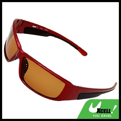 Bicycle Motorcycle Driver Race Night Vision Red Frame Sun Glasses Sunglasses
