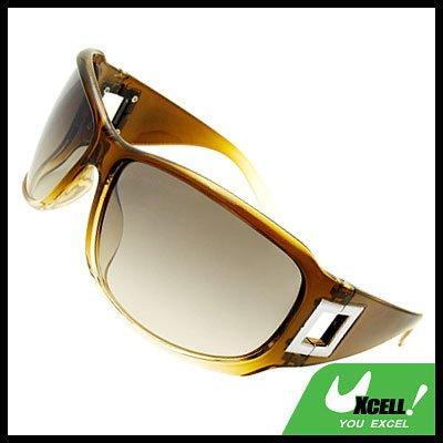 Lohan Transparent Sage Green Oversize Men Motorcycle Sunglasses