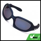 Deep Blue Plastic Frame and Color Coated Lens Men's Motorcycle Sunglasses