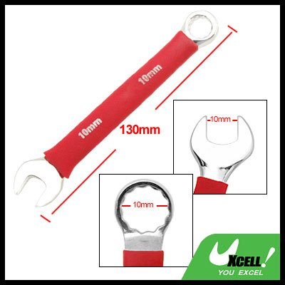 Open Box End 10MM Metric Combination Wrench Soft Grip Tool