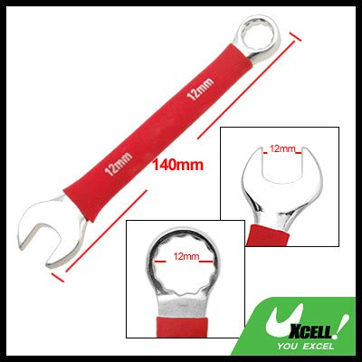 12MM Metric Soft Grip Open Box End Combination Wrench Tool