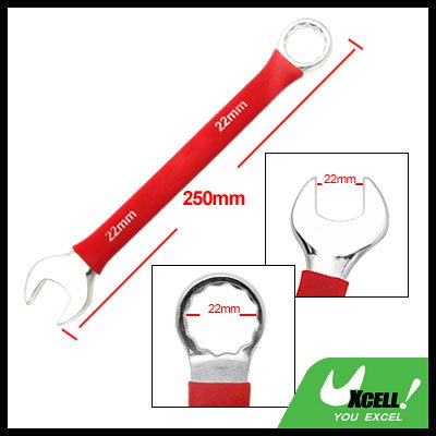 Soft Grip 22MM Metric Open Box End Combination Wrench Tool
