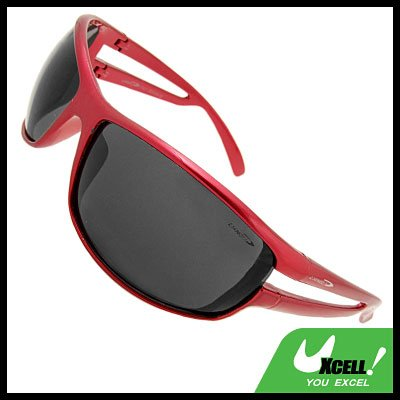 Hollywood Shades Black Lens Red Frame Sport Woman Sunglasses