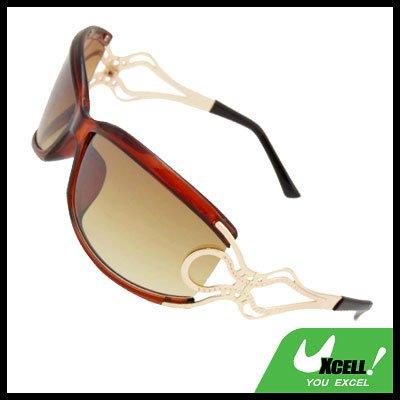 Unique Brown Frame Ladies Women Sports Sunglasses