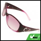 Heart Purple Stylish Girls Womans Sports Sunglasses