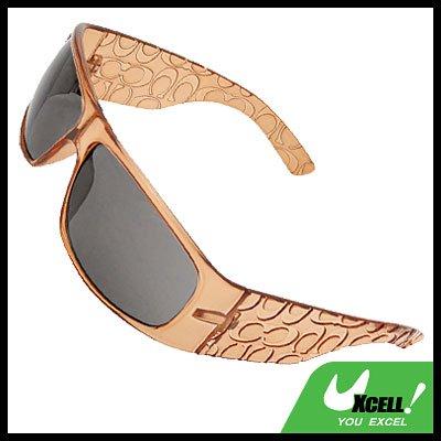 Brown Frame Wide Lens Eyewear Sports Men's Sunglasses