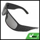 Wide Lens Unevenly Eye Wear Sport Men's Sunglasses Black