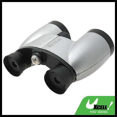 Toy Binoculars 4 X4 6mm  Vision Scope - Silver