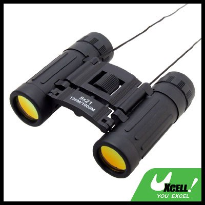 8 x 21mm Compact Rubber Armored Binoculars