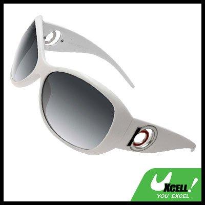 Women Plastic Sports Sunglasses White Frame