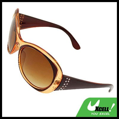 Amber Round Plastic Men's Women's Sport Sunglasses