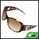 Leopard Plastic Sports Unisex Men's Women's Sunglasses