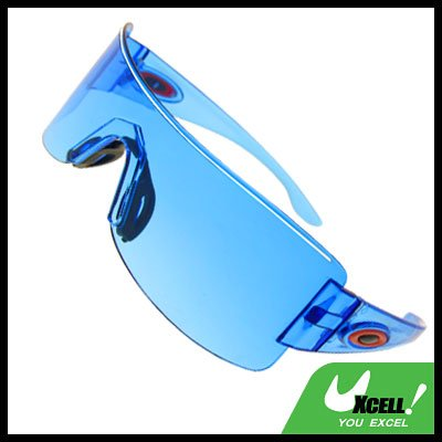 Rectangle Blue Lens Men's Sports Sunglasses
