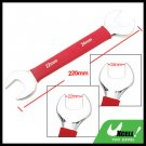 22mm 24mm Dual Open End Wrench Tool with Soft Red Grip