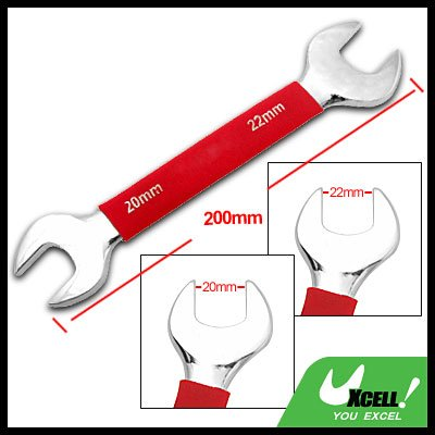 20mm 22mm Dual Open End Wrench Tool with Soft Red Grip