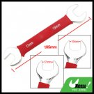 Soft Red Grip 17mm 19mm Dual Open End Wrench Tool