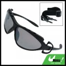 Sports Driving Sunglasses Black Transparent Lens and Black Frame