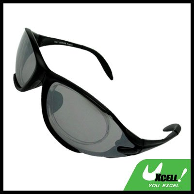 Sports Driving Sunglasses Gray Transparent Lens and Black Frame