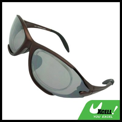 Sports Driving Sunglasses Gray Transparent Lens and Brown Frame