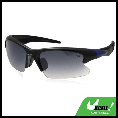Wraparound  Tinted Lens Black Frame Sport Sunglasses