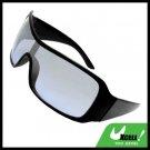 Wide Lens Black Frame Plastic Men's Sports Sunglasses