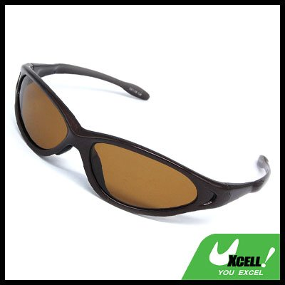 Brown Fashion Lady's Polarized Sports Sunglasses